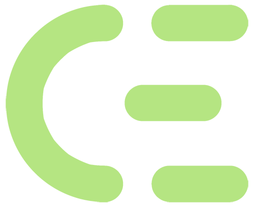 CEntrance smiling person in headphones logo